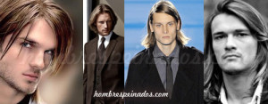 hombres peinados pelo largo