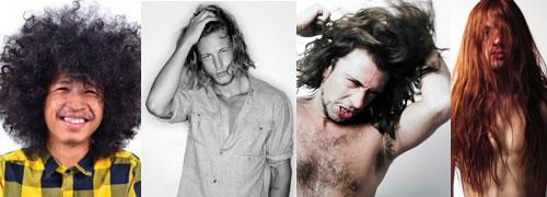hombres cabello largo