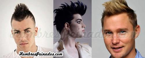 Peinado de cresta en medio para hombres de moda