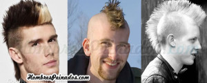 peinado mohicano hombres