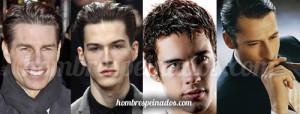 hombres peinados efecto mojado estilo agua moda