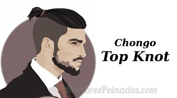 Peinado chongo o Top Knot para hombre